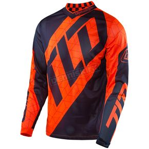 Troy Lee Designs Youth Fluorescent Orange/Navy GP Air Quest Jersey - 309130735