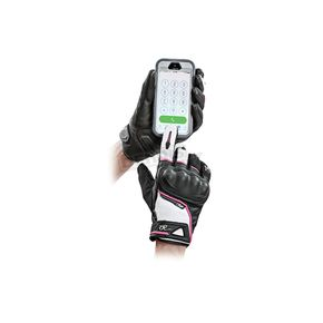 Joe Rocket Women's Black/White/Pink Super Moto Gloves - 1634-1904