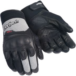 Cortech Black/Silver HDX 3 Gloves - 8330-0307-08
