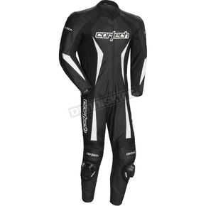 Cortech Black Latigo 2.0 Leather Race-Ready One-Piece Suit - 8991-0235-05