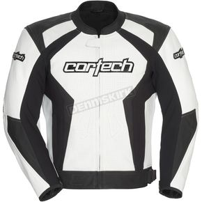 Cortech White/Black Latigo 2.0 Leather Jacket - 8992-0209-07