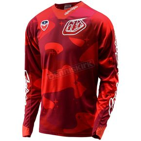 Troy Lee Designs Red Cosmic Camo LTD SE Jersey - 303012406