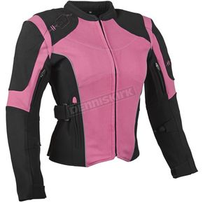 Speed and Strength Women's Pink/Black Comin in Hot Textile Jacket - 879703