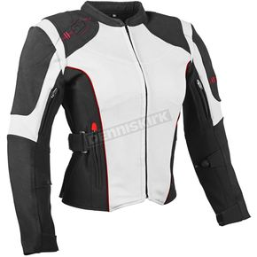 Speed and Strength Women's White/Black Comin in Hot Textile Jacket - 879710
