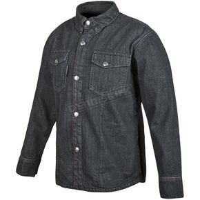 Speed and Strength Black Gridlock Denim Moto Shirt - 879761