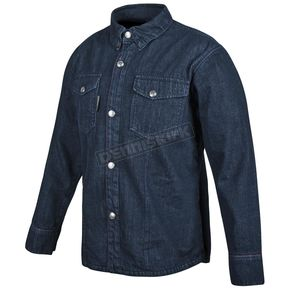 Speed and Strength Blue Gridlock Denim Moto Shirt - 879770