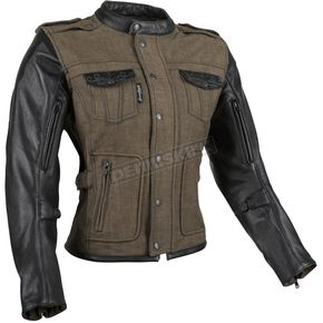 Speed and Strength Women's Brown Six Speed Sisters Leather/Denim Jacket - 879967