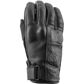 Speed and Strength Women's Black Heart Leather Gloves - 879989