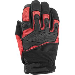 Speed and Strength Red/Black Hammer Down Mesh Gloves - 872282