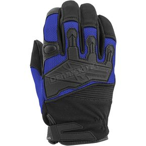 Speed and Strength Blue/Black Hammer Down Mesh Gloves - 872284