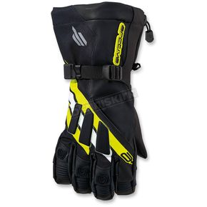 Arctiva Black/Yellow Meridian Gloves - 3340-1096
