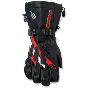 Arctiva Black/Red Meridian Gloves - 3340-1105