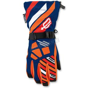 Arctiva Youth Blue/Orange Ravine Gloves - 3342-0221
