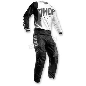 Thor White/Black Pulse Aktiv Jersey - 2910-3889