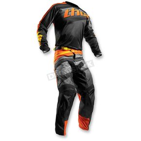 Thor Black/Orange Pulse Velow Jersey - 2910-3937