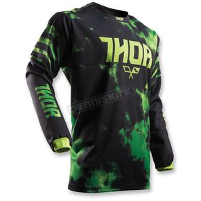 Thor Youth Lime/Black Tyde Jersey - 2912-1441