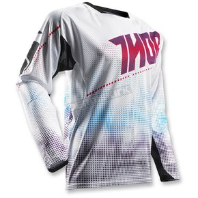 Thor White/Red Fuse Air Lit Jersey - 2910-3969