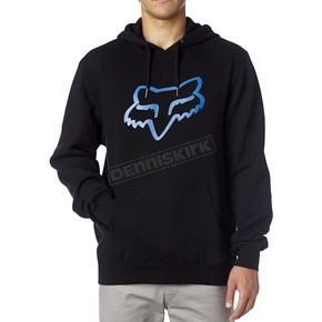 Fox Black/Blue Legacy Fox Head Hoody - 14625-013-L