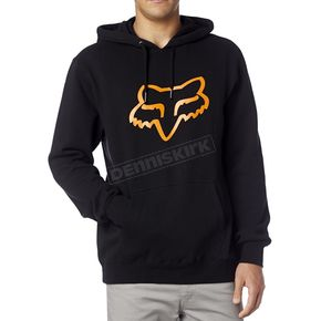 Fox Black/Orange Legacy Fox Head Hoody - 14625-016-M