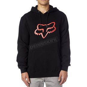 Fox Black/Red Legacy Fox Head Hoody - 14625-017-L