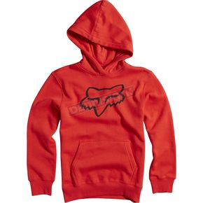 Fox Youth Flame Red Legacy Hoody - 15593-122-YS