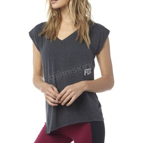 Fox Women's Heather Black Aspire T-Shirt - 17199-243-XS