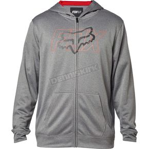 Fox Heather Graphite Skars Zip Hoody - 18058-185-S