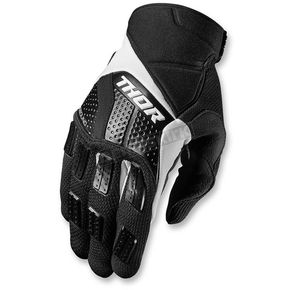 Thor Black/White Rebound Gloves - 3330-3875