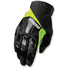 Thor Black/Lime Rebound Gloves - 3330-3877