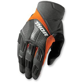 Thor Charcoal/Orange Rebound Gloves - 3330-3886