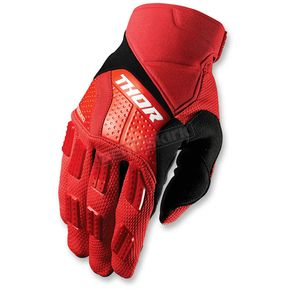 Thor Red/Black Rebound Gloves - 3330-3888