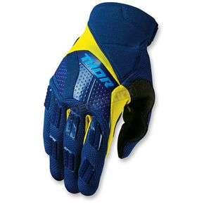 Thor Navy/Yellow Rebound Gloves - 3330-3898