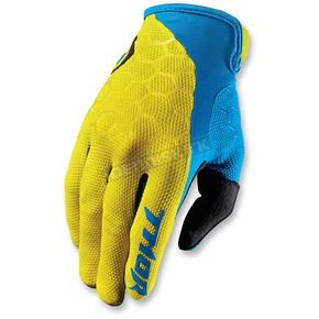 Thor Yellow/Blue Draft Indi Gloves - 3330-3916
