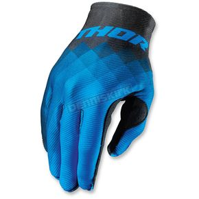 Thor Blue Invert Pix Gloves - 3330-3938