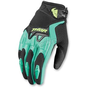 Thor Womens Black/Teal Spectrum Gloves - 3331-0131