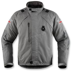 Icon - Raiden Gray Raiden DKR Monochromatic Waterproof Jacket - 2820-3777