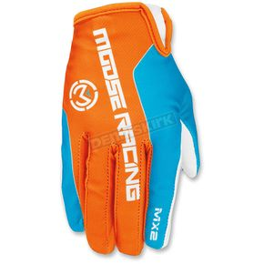 Moose Orange/Blue MX2 Gloves - 3330-4186