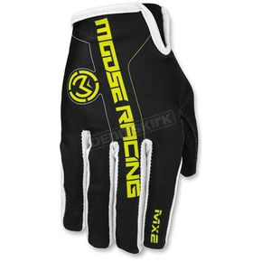 Moose Black/Hi-Viz MX2 Gloves - 3330-4204