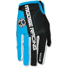 Moose Blue/Black MX2 Gloves - 3330-4219