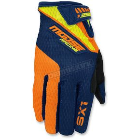 Moose Orange/Navy/Hi-Viz SX1 Gloves - 3330-4237