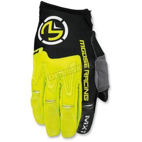 Moose Hi-Viz/Black MX1 Gloves - 3330-4298