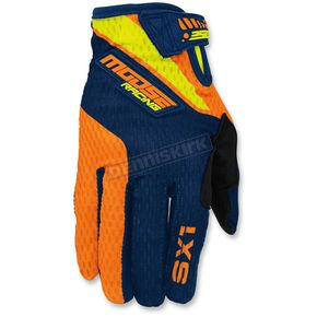 Moose Youth Orange/Navy/Hi-Viz SX1 Gloves - 3332-1146