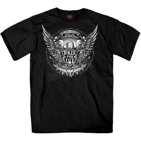 Hot Leathers Black Bold Eagle T-Shirt - GMS1336M