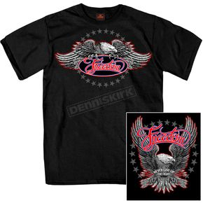 Hot Leathers Black Freedom Eagle T-Shirt - GMD1340XXXL