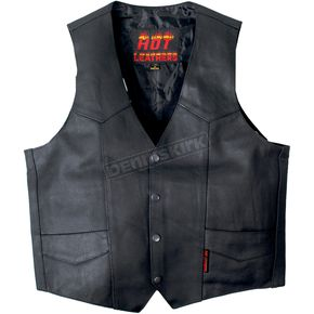 Hot Leathers Heavyweight Cowhide Leather Vest - VSM1032S