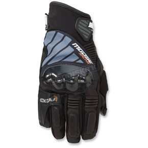 Moose Black ADV1 Short Gloves - 3330-4327