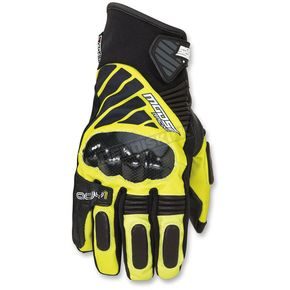 Moose Black/Hi-Viz ADV1 Short Gloves - 3330-4334