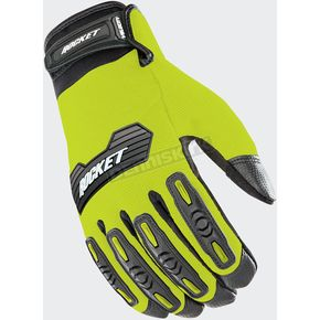 Joe Rocket Hi-Viz/Black Velocity 2.0 Gloves - 1610-4402