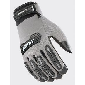 Joe Rocket Silver/Black Velocity 2.0 Gloves - 1610-4504