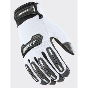 Joe Rocket White/Black Velocity 2.0 Gloves - 1610-4705
